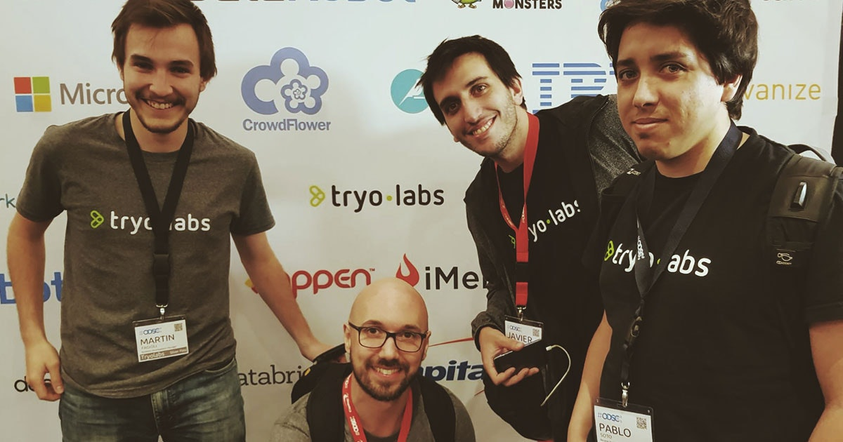 Our team at the ODSC in San Francisco.